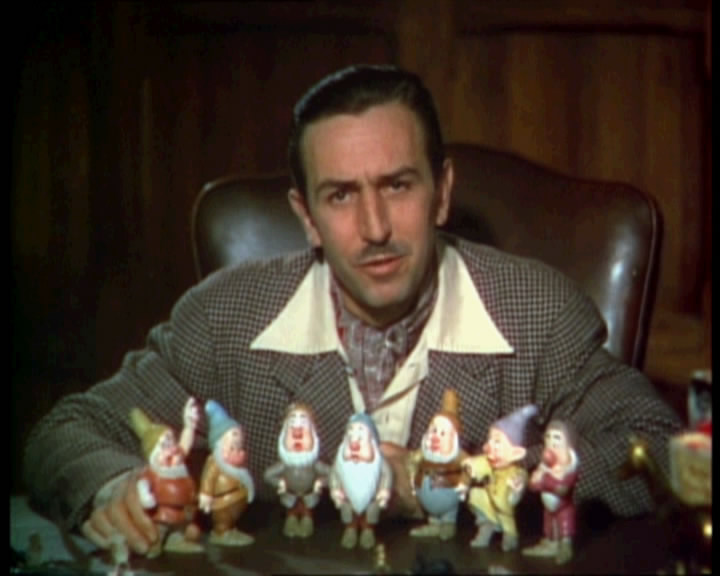 Walt Disney in a trailer for the movie, Snow White via http://commons.wikimedia.org/wiki/File:Walt_Disney_Snow_white_1937_trailer_screenshot_(12).jpg