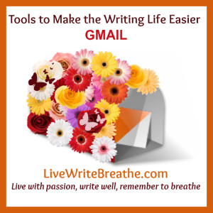 Tools to make the writing life easier: GMAIL via @janalynvoigt