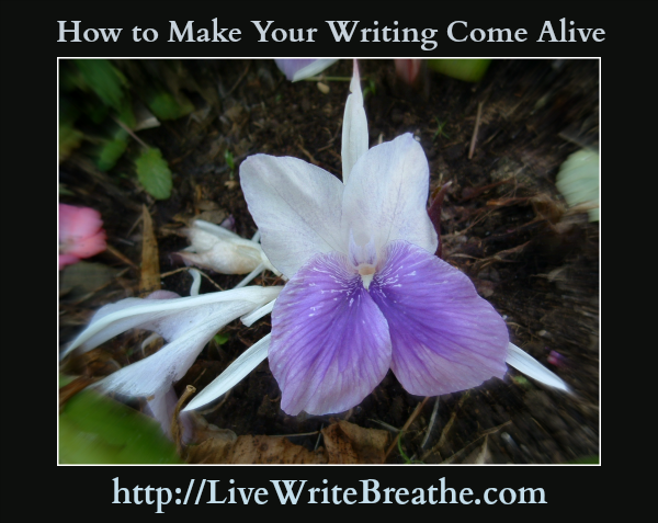 How to Make Your Writing Come Alive by Janalyn Voigt for Live Write Breathe