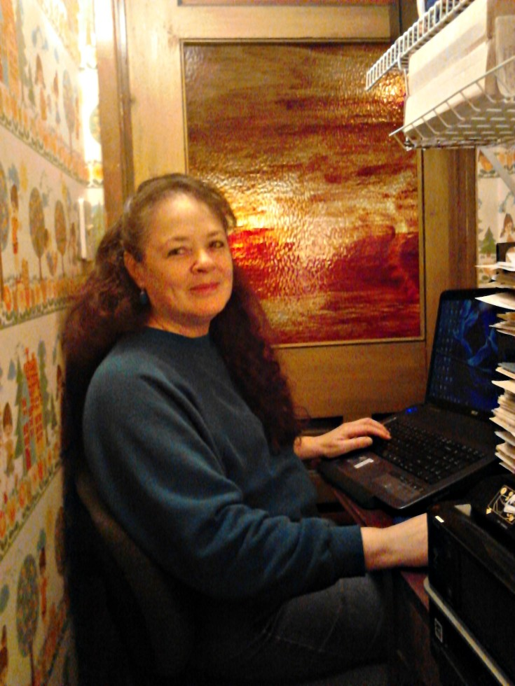 Live Write Breathe mentor Janalyn Voigt in her closet writing office
