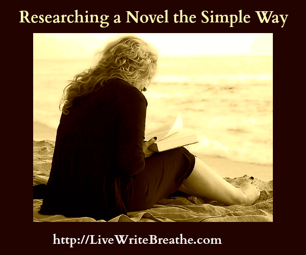 Researching a Novel the Simple Way via Janalyn Voigt for Live Write Breathe