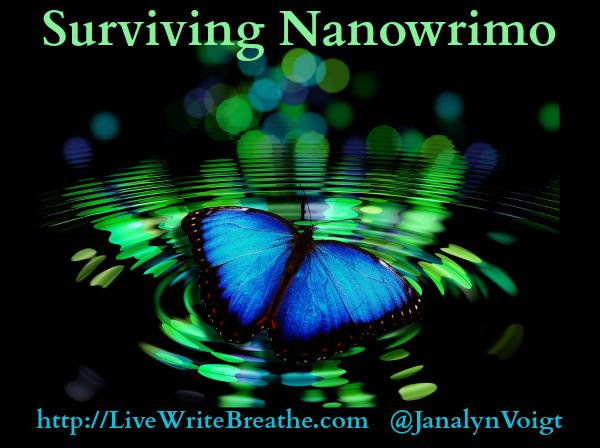 Surviving Nanowrimo via @JanalynVoigt | Live Write Breathe
