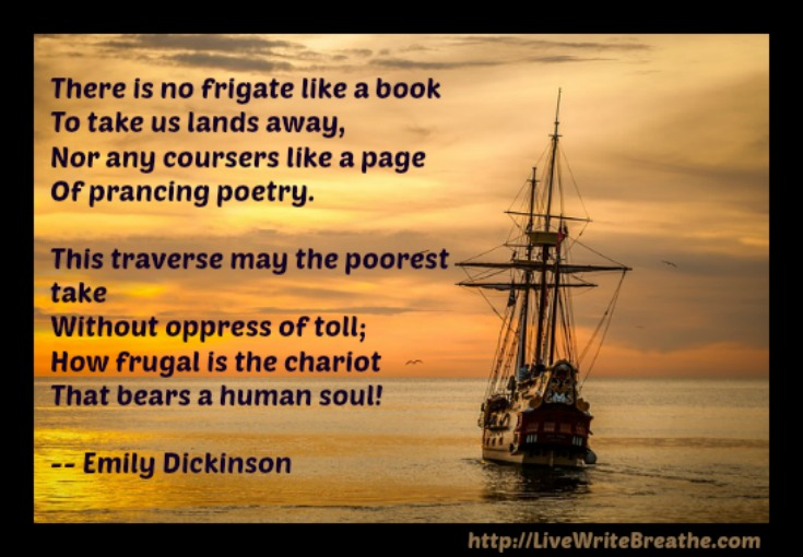 there is no frigate like a book by emily dickinson essay There is no frigate like a book - emily dickinson.
