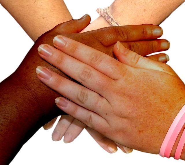 friends-touching-hands