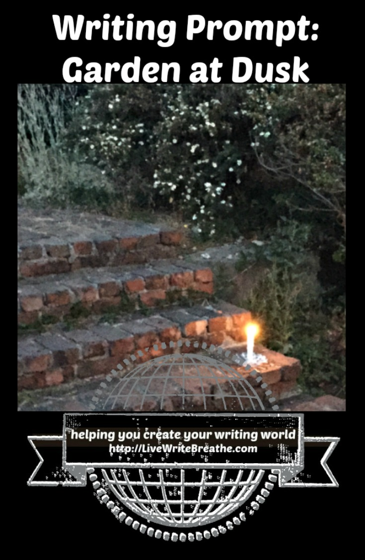 Visual Writing Prompt Garden at Dusk via @JanalynVoigt | Live Write Breathe