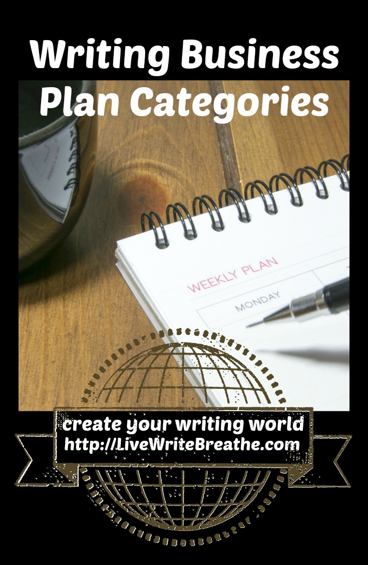 Writing Business Plan Categories by Janalyn Voigt | Live Write Breathe