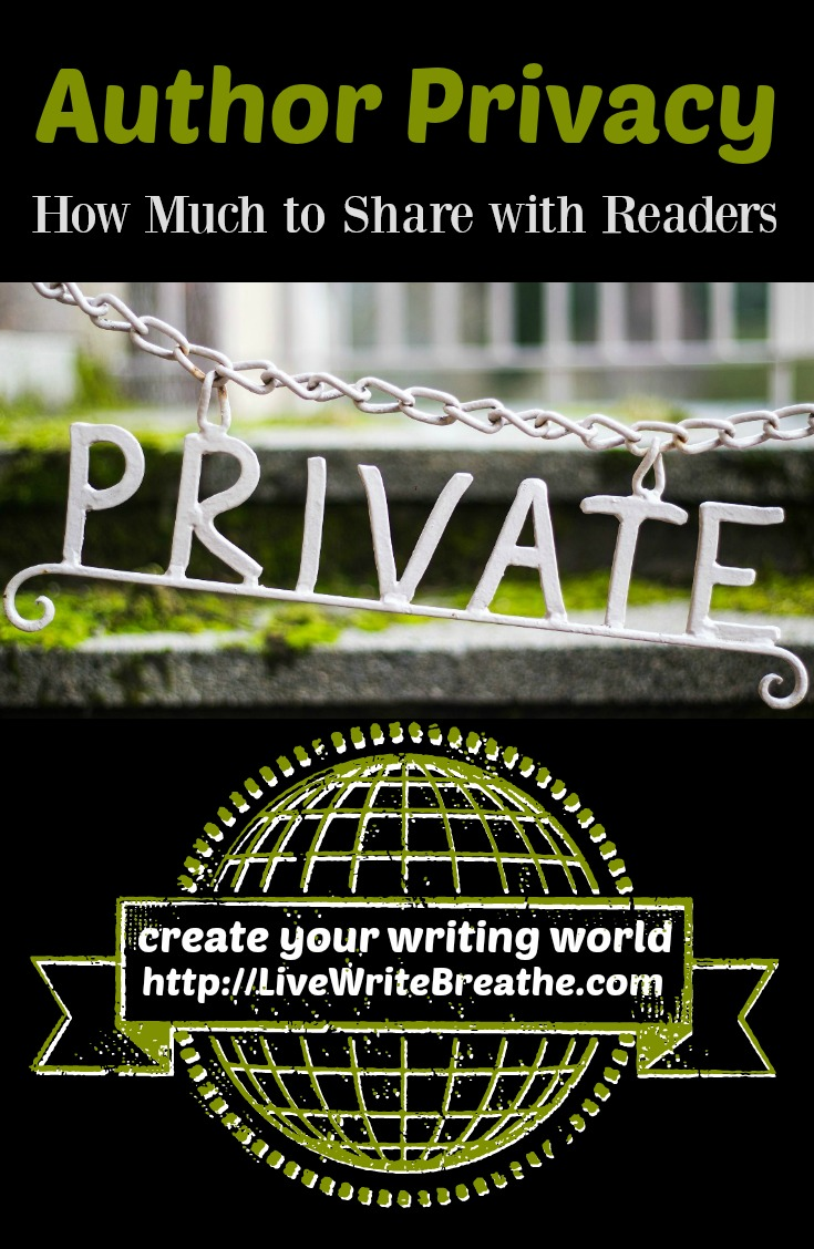 Author Privacy -- How Much to Share with Readers via @JanalynVoigt | Live Write Breathe